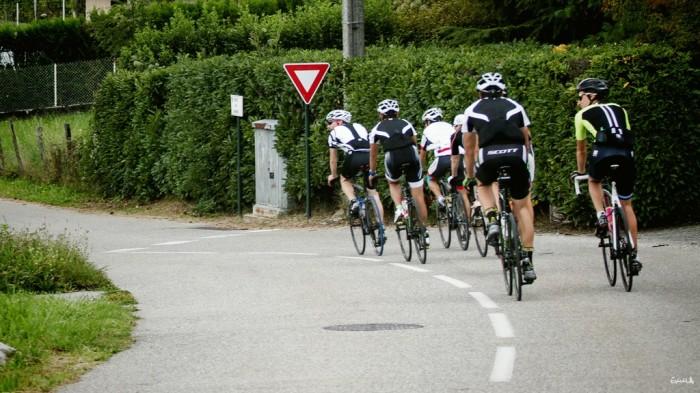 Départ à vélo